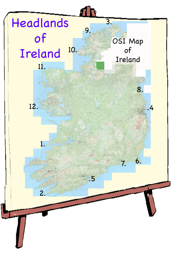 Map Of Ireland Headlands.It S Located Well